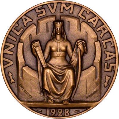 Obverse of 1928 Carcassonne Medallion