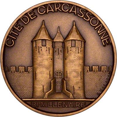 Reverse of 1928 Carcassonne Medallion