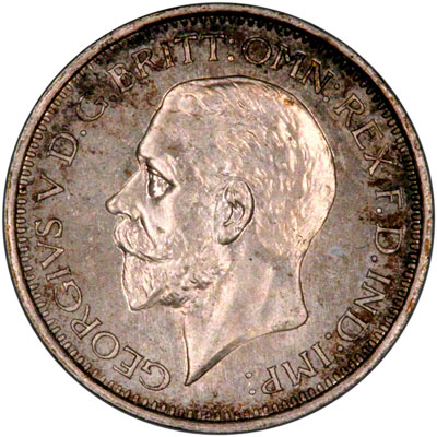 Obverse of 1930 Maundy Fourpence