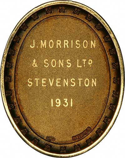 Reverse of 1931 Gold Medallion