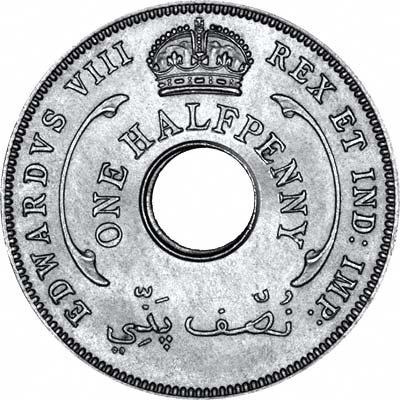 Reverse of 1936 British West Africa Edward VIII Halfpenny