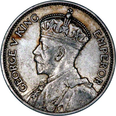 Obverse of 1936 Shilling