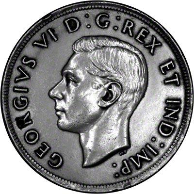 Obverse of 1937 Canada Silver Dollar