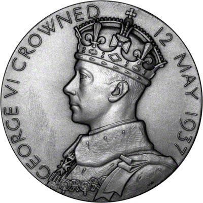 Obverse of 1937 Large Small Coronation Medallion