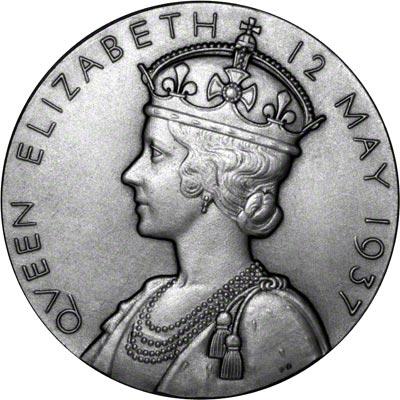Reverse of 1937 Large Silver Coronation Medallion