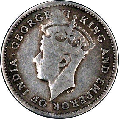 Obverse of 1940 British Guiana Fourpence