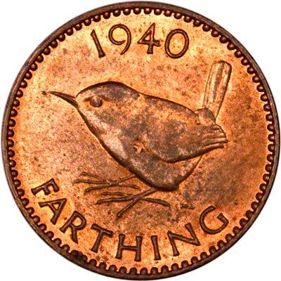 Reverse of 1940 Farthing