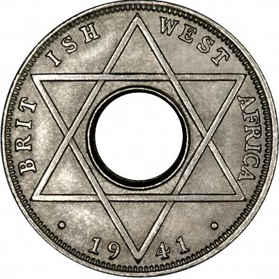 Obverse of 1941 British West Africa Tenth of One Penny