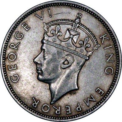 Obverse of 1941 Half Crown