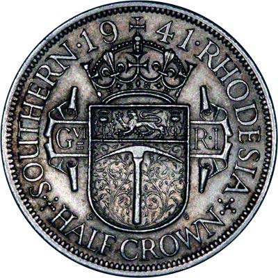 Reverse of 1941 Half Crown