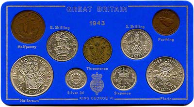 1943 British £SD Coin Sets