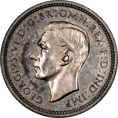 Obverse of 1944 Maundy Fourpence