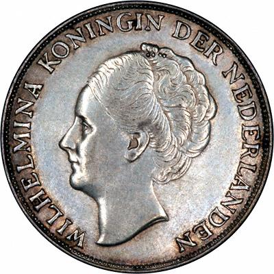 Obverse of 1944 Netherlands 1 Gulden