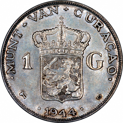 Reverse of 1944 Netherlands 1 Gulden