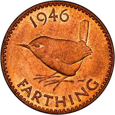 Reverse of 1946 Farthing