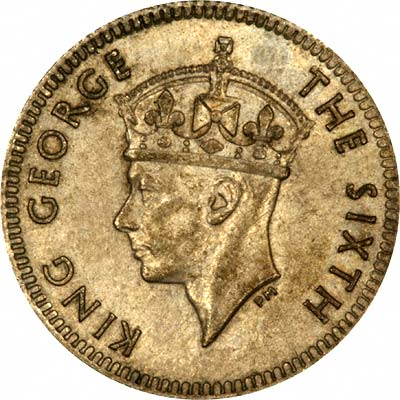 Obverse of 1948 British Malaya 5 Cents