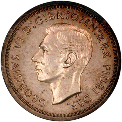 Obverse of 1950 Maundy Fourpence