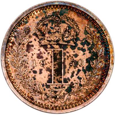 Reverse of 1950 Maundy Penny