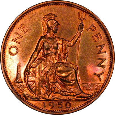 Britannia on the Reverse of a George VI Penny