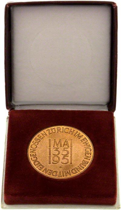 1951 Swiss Gold Medallion in Presentation Box