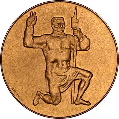 Obverse of 1951 Swiss Gold Medallion