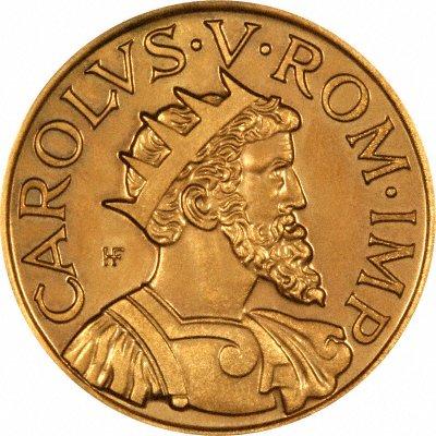 Charles V Holy Roman Emperor on Obverse of 1952 Geneva European Cultural Centre Gold Medallion