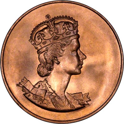Obverse of 1953 Copper Coronation Medallion