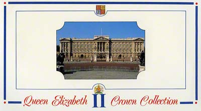 Inside Cover of Tumble Polished 1953 to 1990 Royal Mint Crown Collection