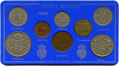 1954 Selected Coin Set in Presentation Card