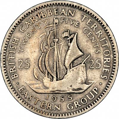 Reverse of 1955 Twenty Five Cents