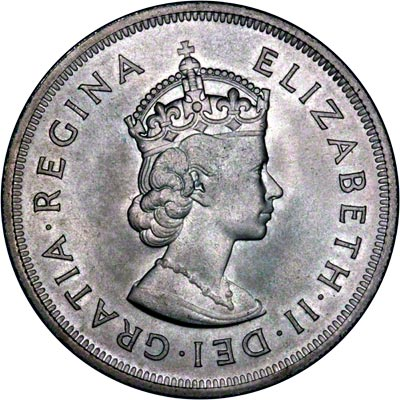 Obverse of 1959 Bermuda Silver Crown - 350th Anniversary of Colony Founding