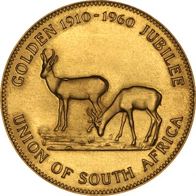 Obverse of 1960 South Africa Gold Medallion