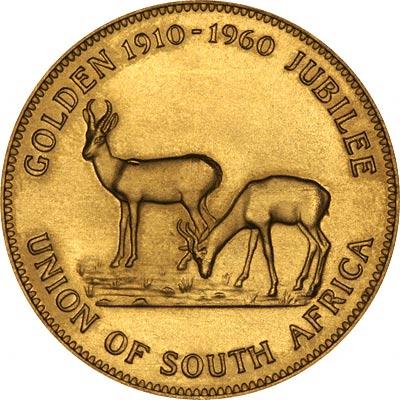 1960 South African 1 Oz Golden Jubilee Medallion