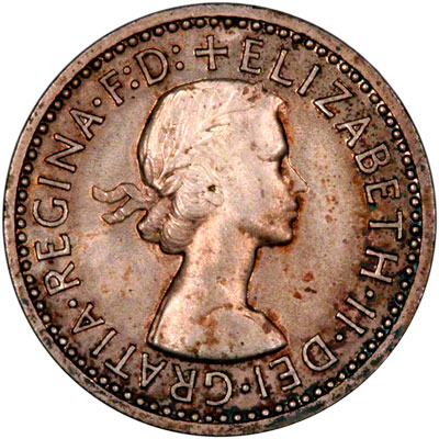 Obverse of 1961 Maundy Fourpence