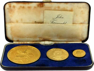1963 Kennedy Gold Medallions in Presentation Box
