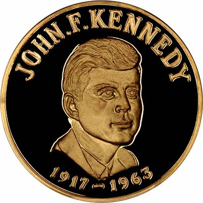 Obverse of 1963 Kennedy  Gold Medallion