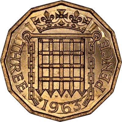 1963 Brass Threepence