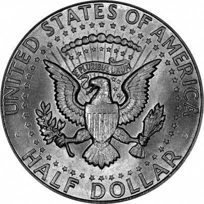 Reverse of 1964 Kennedy Silver Half Dollar