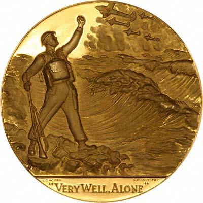 Reverse of Gold Churchill Medallion