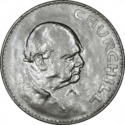 Reverse of 1965 British Churchill Crown