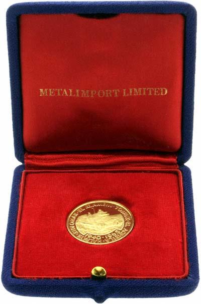 1966 Desert War 25th Anniversary Gold Medallion in Box