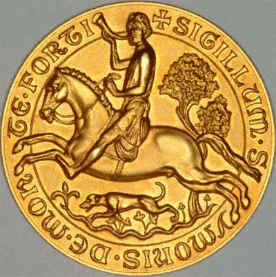 Seal of Simon de Montfort on Gold Medallion