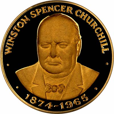 Sir Winston Spencer Churchill on Gold Medallion