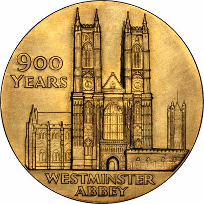 Reverse of Westminster Abbey 900th Anniversary Medallion
