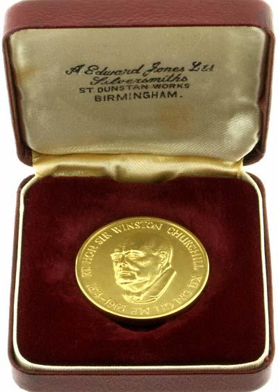 Gold Churchill Medallion in Presentation Box