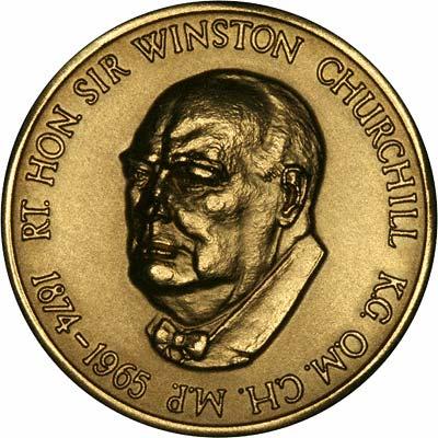 Sir Winston Spencer Churchill on Gold Medallion