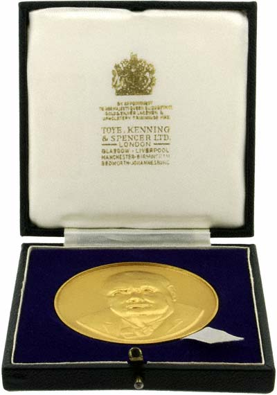 1965 Churchill Gold Medallion in Presentation Box