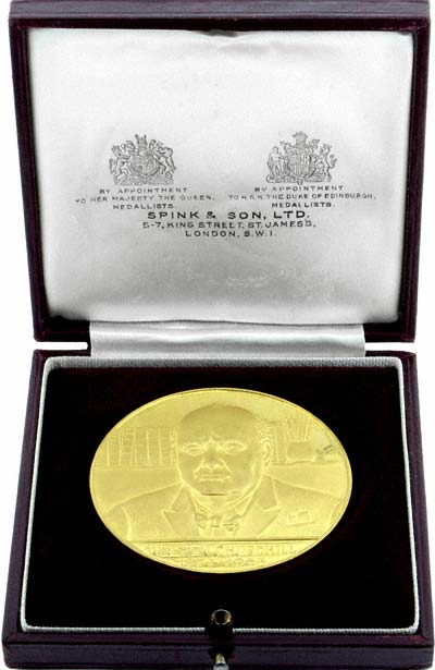 1965 Churchill Gold Medal by Spink & Son in Box
