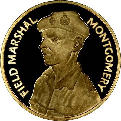 Obverse of 1966 Desert War 25th Anniversary Gold Medallion