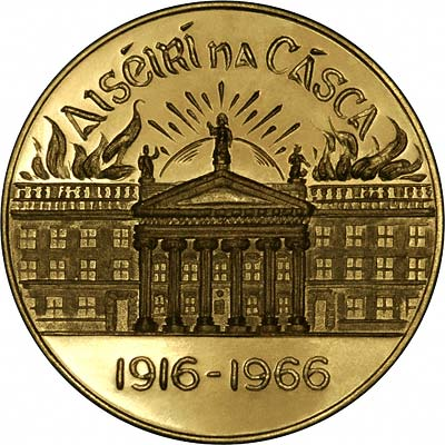 Obverse of 1966 Easter Rising Gold Medallion